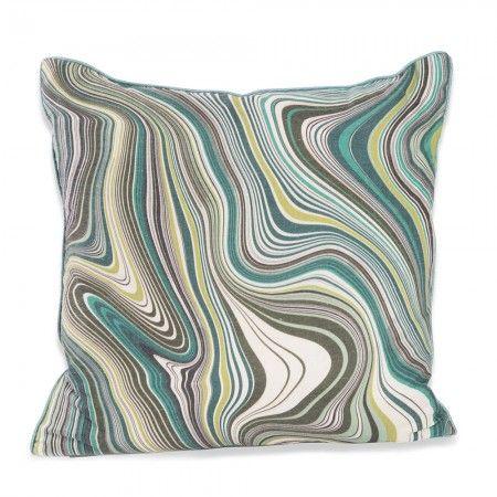 Green Marbled Cushion - Cushions