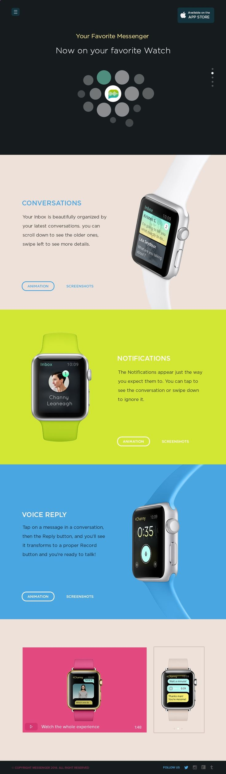 Tips For Choosing Smartwatch Messenger_for_apple_watch_landing_page_by_ehsan_rahimi - If you want to buy a smartwatch and you do not know which one, you need to review well not only the prices, but also which one is right for you. To do this, we give you useful tips to make the best choice.