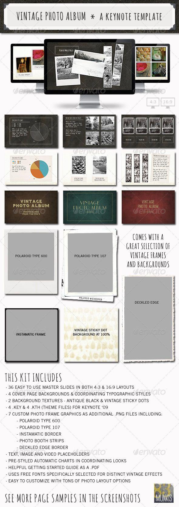 23 best design templates images on pinterest presentation layout vintage photo album keynote template graphicriver item for sale toneelgroepblik Images