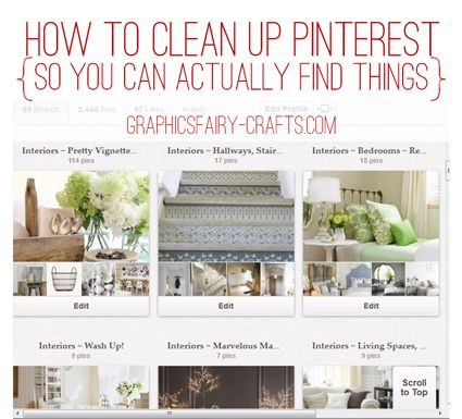 Organize your DIY & Craft Pinterest boards {so you can actually find things} - The Graphics Fairy