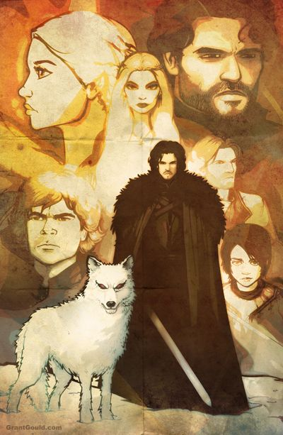 """""""Game of Thrones"""" street poster , by Grant Gould."""