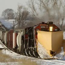 A Train in snow