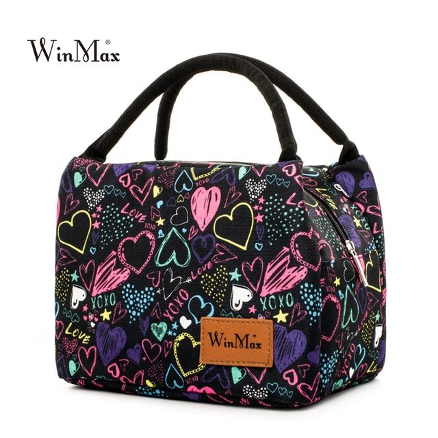 94248cae7 Winmax 2019 New Colorful Insulated Picnic Bag Portable keep Food Safe Warm  Big Thermal Cooler Box