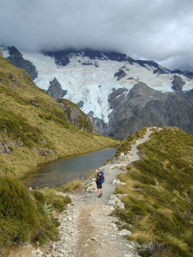 Hiking along the picturesque Sealy Tarns Track with Hiking New Zealand