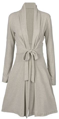 $35.99 Only with free shipping&easy return! This long knitting coat is detailed with sash&lapel design! You are going to love all the compliments you get in this flattering coat!