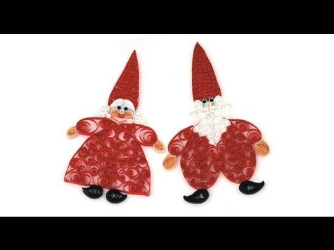 Mr. & Mrs. Santa QUILLING - YouTube