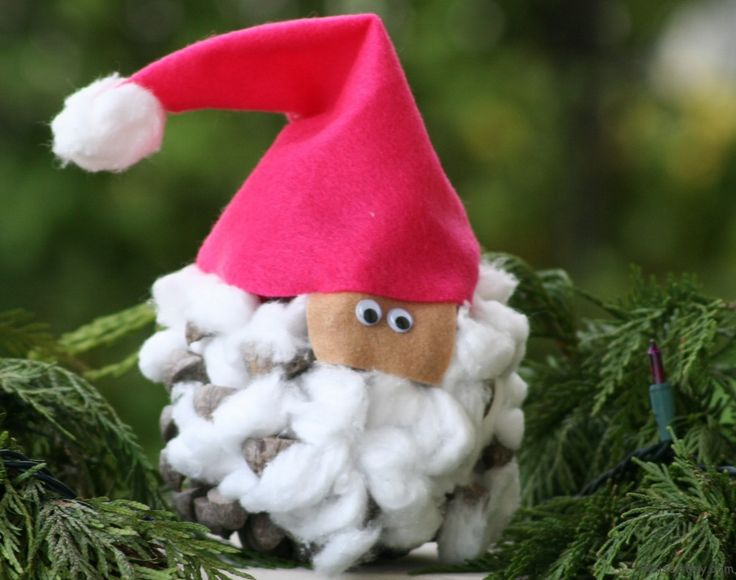 pine cone santa toddler craft christmas pinterest