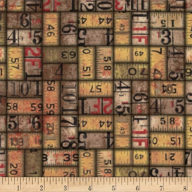 Tim Holtz Eclectic Elements Measurements Neutral from @fabricdotcom  Designed Tim Holtz for Westminster Fabrics , this fabric is perfect for quilting, apparel and home décor accents. Colors include beige, black, red and ivory.