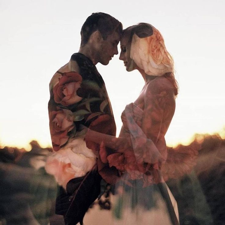 Such a sweet & romantic wedding photo shoot! Loving the double exposure…