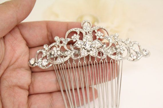 Rhinestone hair combWedding hair combCrystal by Judiscrystal