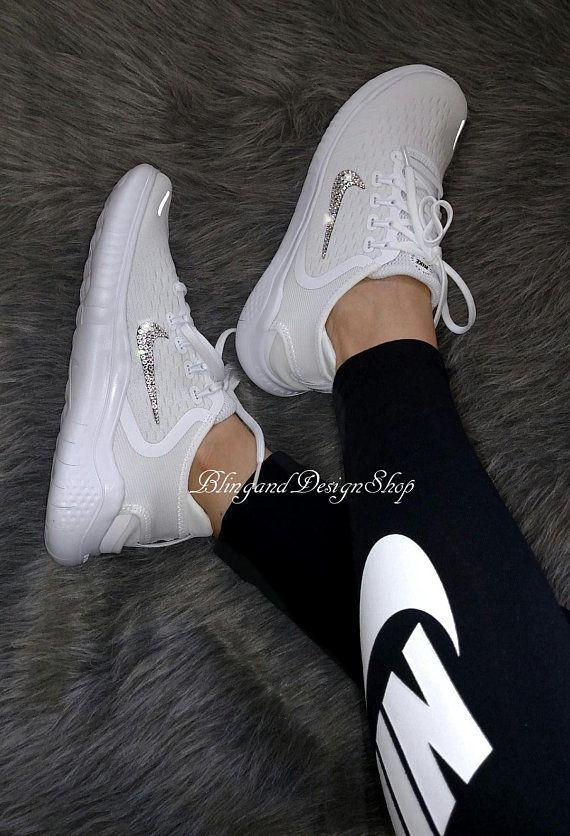 7536fffea4a8a Swarovski Bling Nike Free RN 2018 Women's Nike Shoes Custom with ...