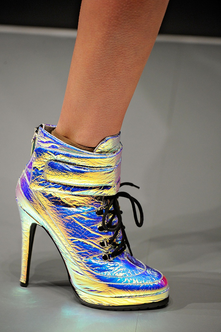 Electric Metallic Shoes from Blumarine :: Fall Ready To Wear 2012