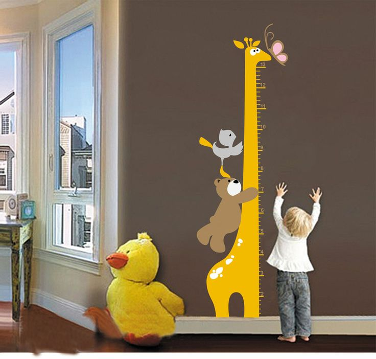 New Kids Giraffe Height Wall Decal Room Stickers Vinyl Removable Home Decor
