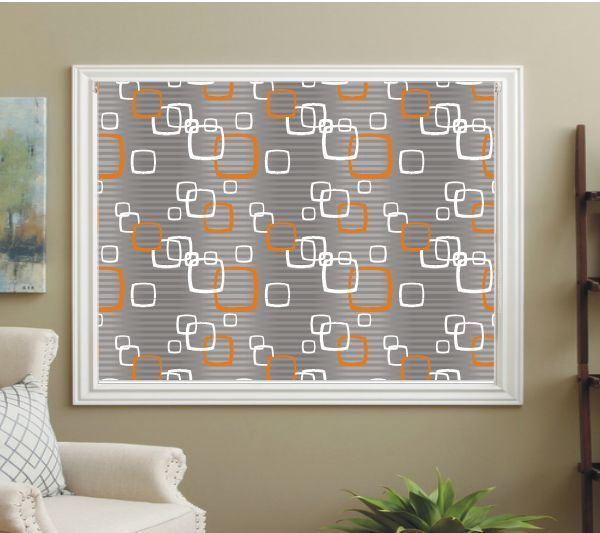 PATTERNED ROLLER BLINDS Only An Ebay Picture But Great Inspiration For My Living Room Wall