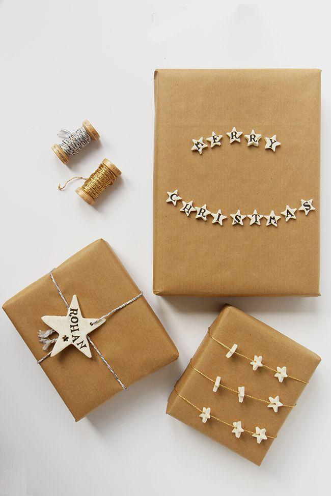 DIY: Cornstarch clay gift wrap | hellonatural.co