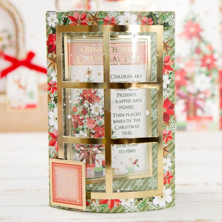 Beautiful festive window card from the @hunkydorycrafts Window the Heart Bundle! Shop now at C&C: http://www.createandcraft.tv/pp/hunkydory-window-to-heart-ultimate-bundle---includes-card-collection%2c-inserts-second-little-book-of-festive-poetry-349914?p=1 #cardmaking #papercraft