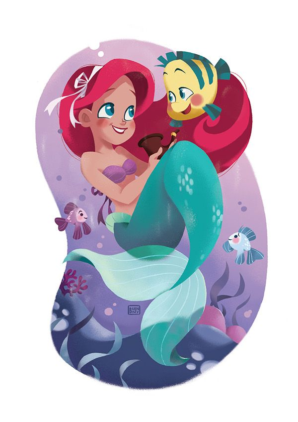 The Little Mermaid by Pamela Barbieri, via Behance