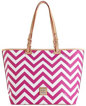Dooney & Bourke Chevron Leisure Shopper - Dooney & Bourke - Handbags & Accessories - Macy's