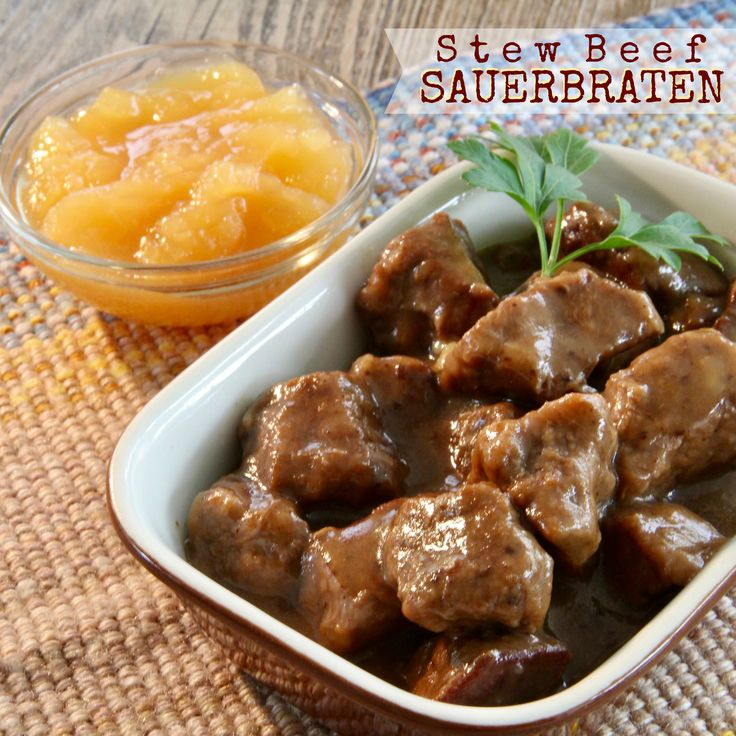 Stew Beef Sauerbraten - made in the IP, and although this needs serious tweaking, I'm going to give it another try.  #MyAllrecipes #AllrecipesAllstars  #AllrecipesFaceless