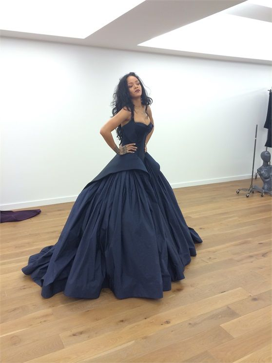 Rihanna Diamond Ball Gown By Zac Posen Pinterest