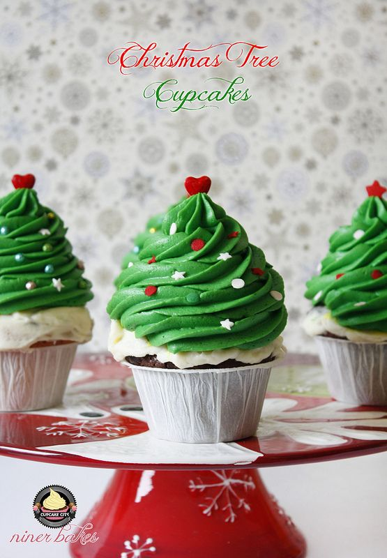 weihnachts winter wunderland cupcakes wie mache ich weihnachtsbaum cupcakes niner bakes. Black Bedroom Furniture Sets. Home Design Ideas