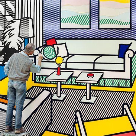 Roy Lichtenstein at work…this is awesome !