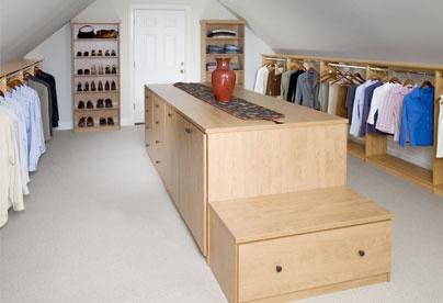 Walk In Closet Above The Garage Small Closet Room