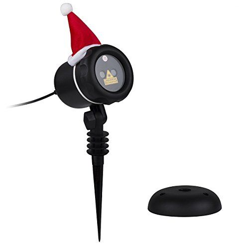 VERKB Outdoor Laser Christmas Light, IP65 Waterproof Star Projector Light with RF Remote for Christmas, Holiday, Party, Landscape,and Garden Decoration(Snowproof, FDA Approved)