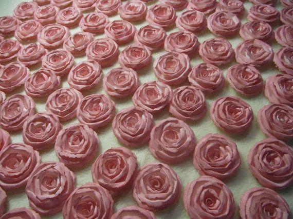 Wedding Paper Flowers...200 Piece Set of Very by JudeAlyssaMarkus
