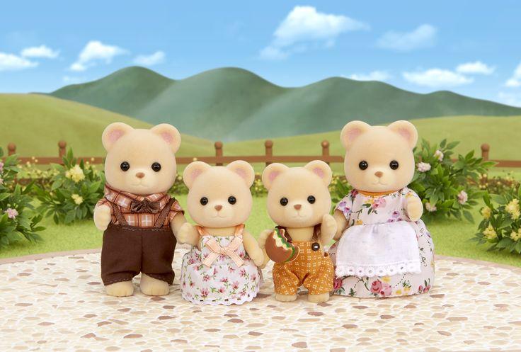 'Εχουν φορέσει τα καλά τους ρούχα, θέλουν τόσο πολύ να σας κάνουν καλή εντύπωση. Sylvanian Families GR ♥ Bear Family ♥