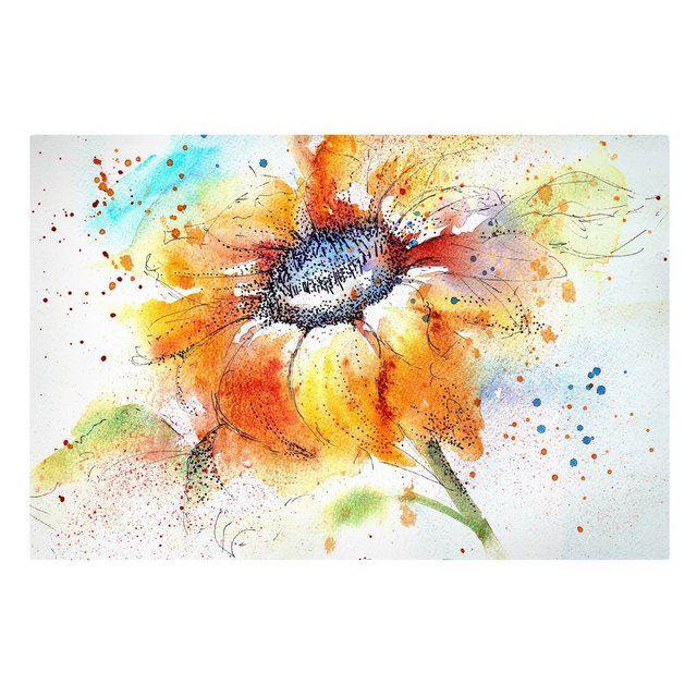 Stretched Canvas Print 2: 3 »Top Flowers Canvas Art«   – Products