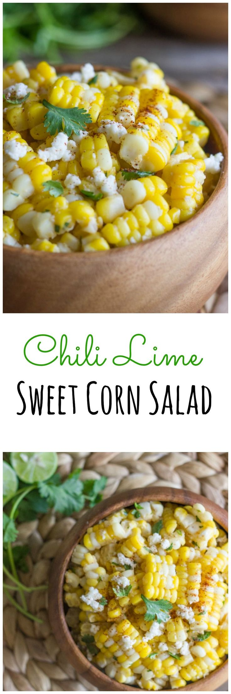Chili Lime Sweet Corn Salad recipe | Tablescapes | Entertaining