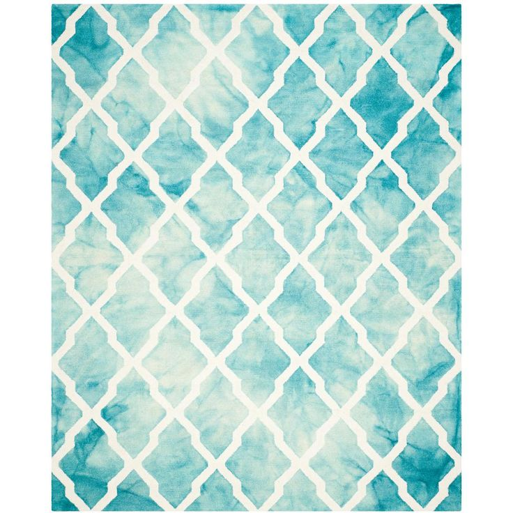 dip dye turquoise ivory ft area rug 6x9 5x7 9x12
