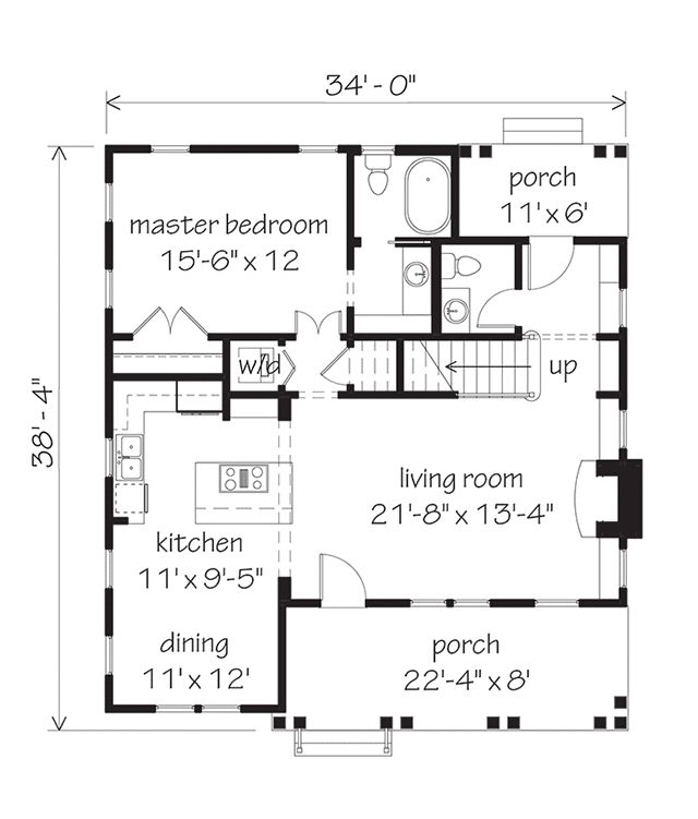 Main Level Floor Plan. Southern Living House PlansSmall ...