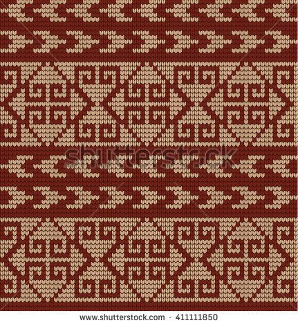 Vector knitted geometrical pattern