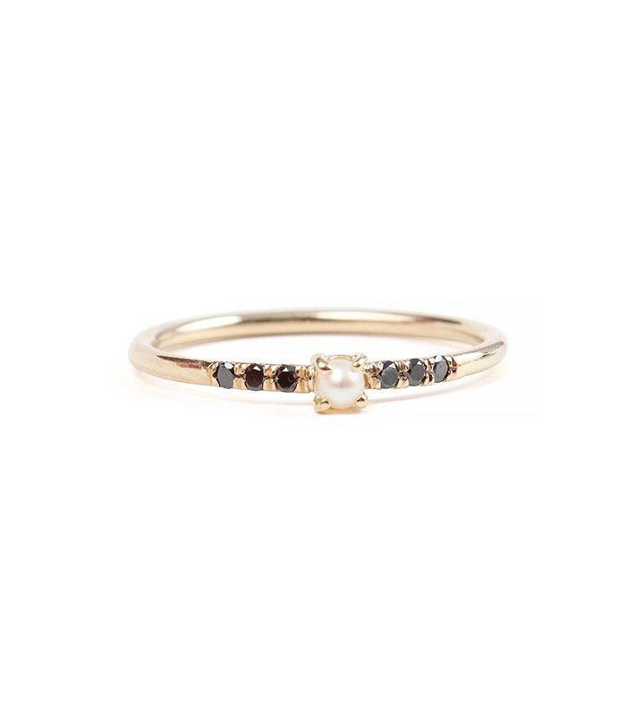 Equilibrium Pearl Ring via @WhoWhatWear