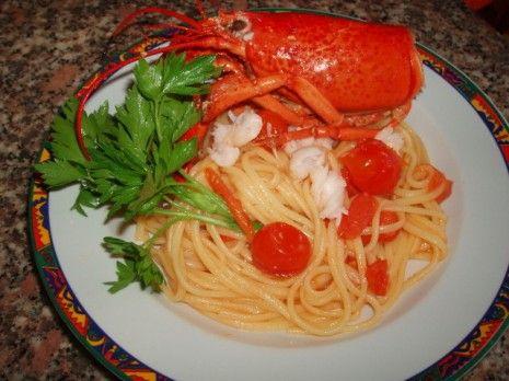 Linguine con astice - http://www.food4geek.it/ricette/linguine-con-astice/