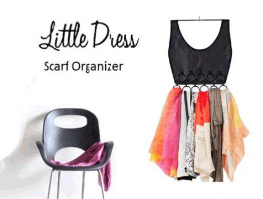 Küçük Elbise Eşarp Organizer