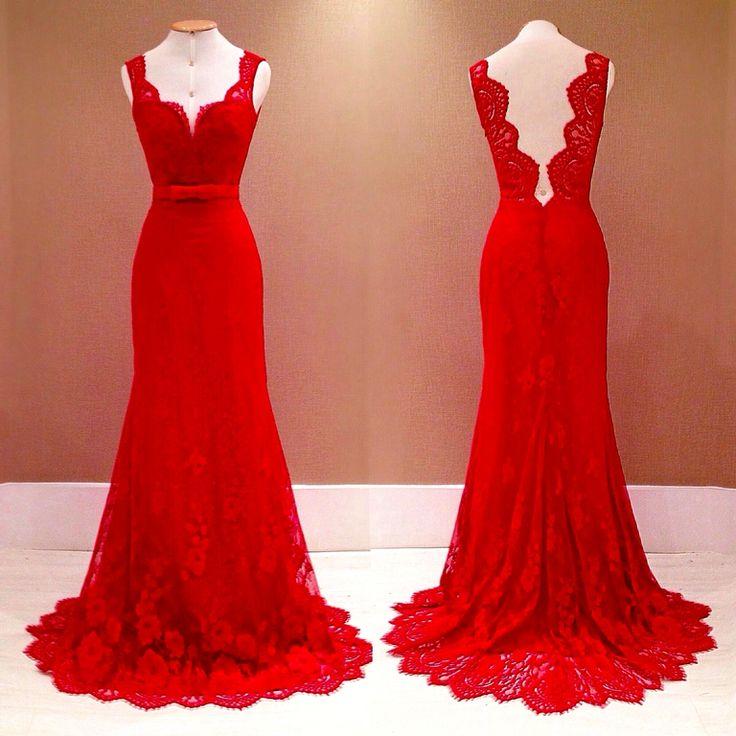 31 besten rote kleider bilder auf pinterest rote kleider - Rotes abendkleid lang ...