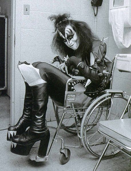 Gene Simmons of #kiss, Detroit; captured by Waring Abbott (1976)