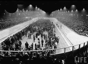 Vélodrome d'Hiver (Vel' d'Hiv'), Paris, July 1942: Thousands of Jewish families were arrested and taken to the Vel' d'Hiv'.