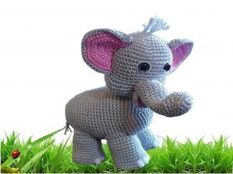 Häkelanleitung:  Elefant Josie