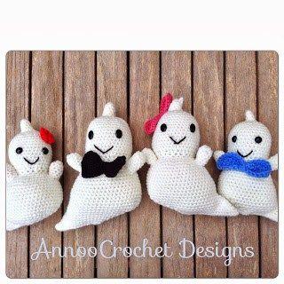 Ghost Amigurumis free crochet pattern - 10 Free Crochet Ghost Patterns - The Lavender Chair
