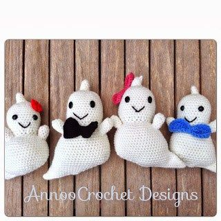 Ghost Amigurumis free crochet pattern - 10 Free Crochet Ghost Patterns - The Lavender Chair