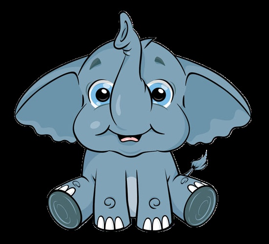Cute Cartoon Elephant Clip Art
