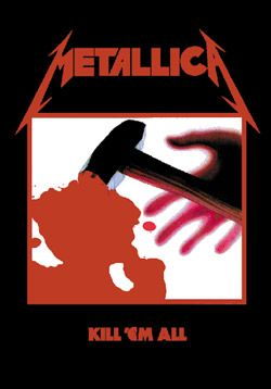 "#Metallica"" Kill Em' All"" Fabric Posters - Madcap Music and More.com   # Licensed $14.95"