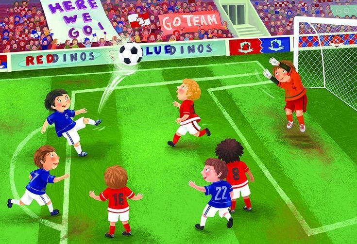 Interactieve praatplaat: Voetbal  klik op de afbeelding. Daarna op de rondjes en je wordt doorgelinkt naar filmpjes en info