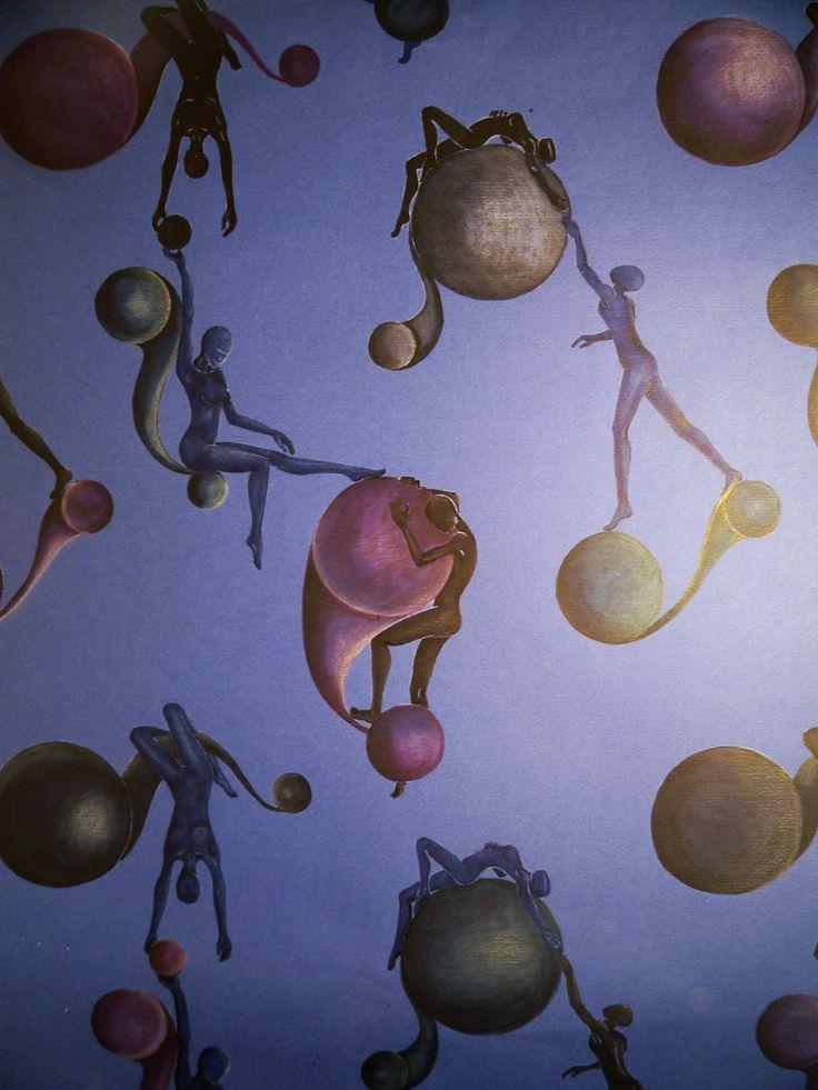 *Esferas* Marcador y lápiz. 50 x 70 cm. Año 1999.