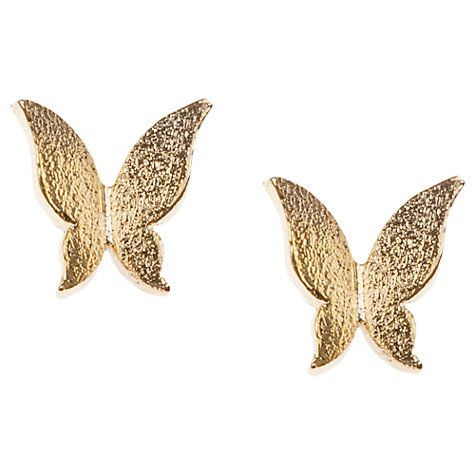 Orelia Origami Butterfly Stud Earrings, Gold | From John Lewis | Price £12