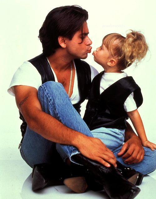 "I used to be in love with Uncle Jesse, whenever ""Jesse's Girl"" started playing I would sing along and replace the worlds with ""Ya know I wish that I was Jesse's Girl!!"" <3 <3 Forever and ever Mr. Stamos"